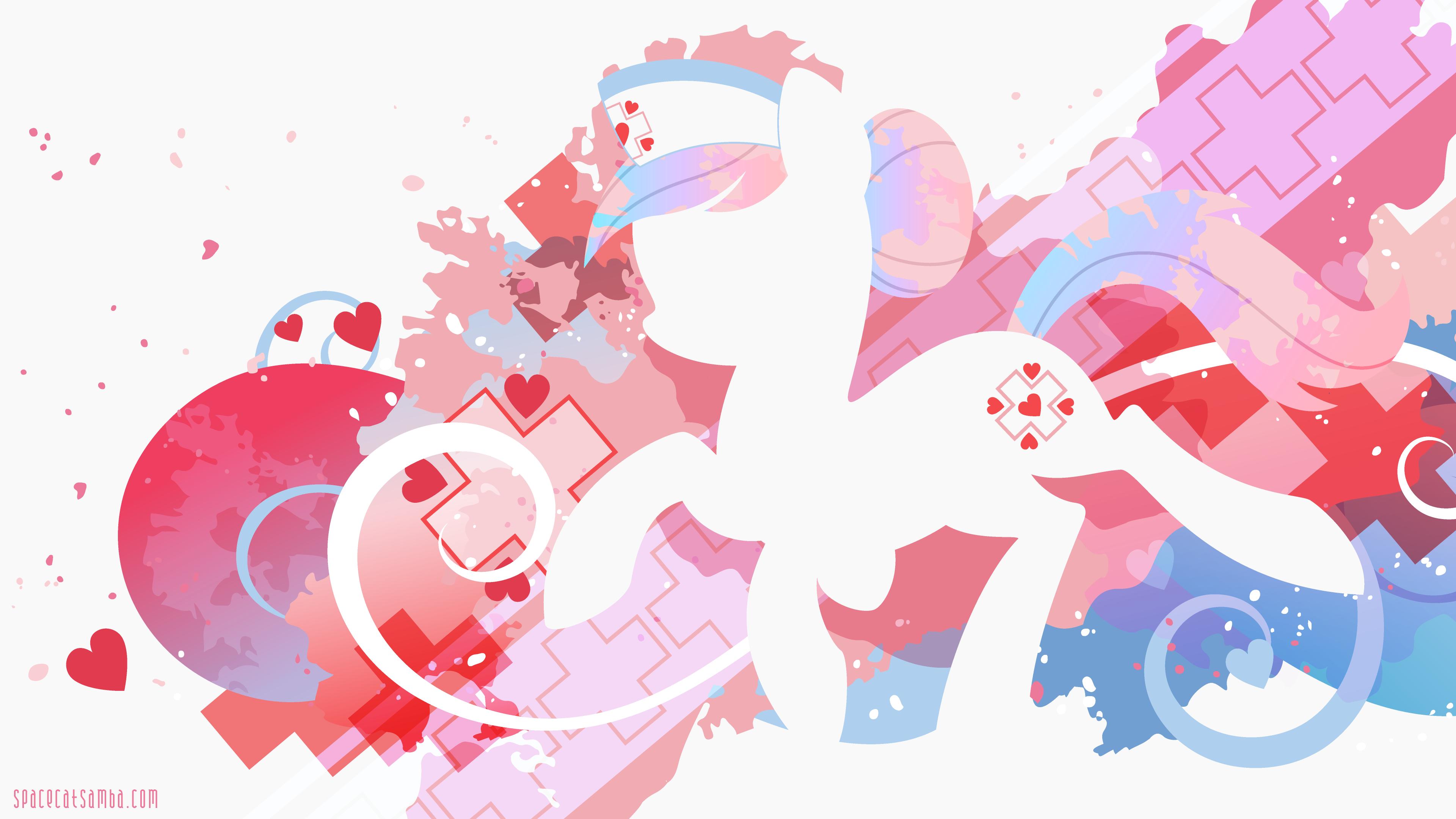 Nurse Redheart Silhouette Wall by SambaNeko